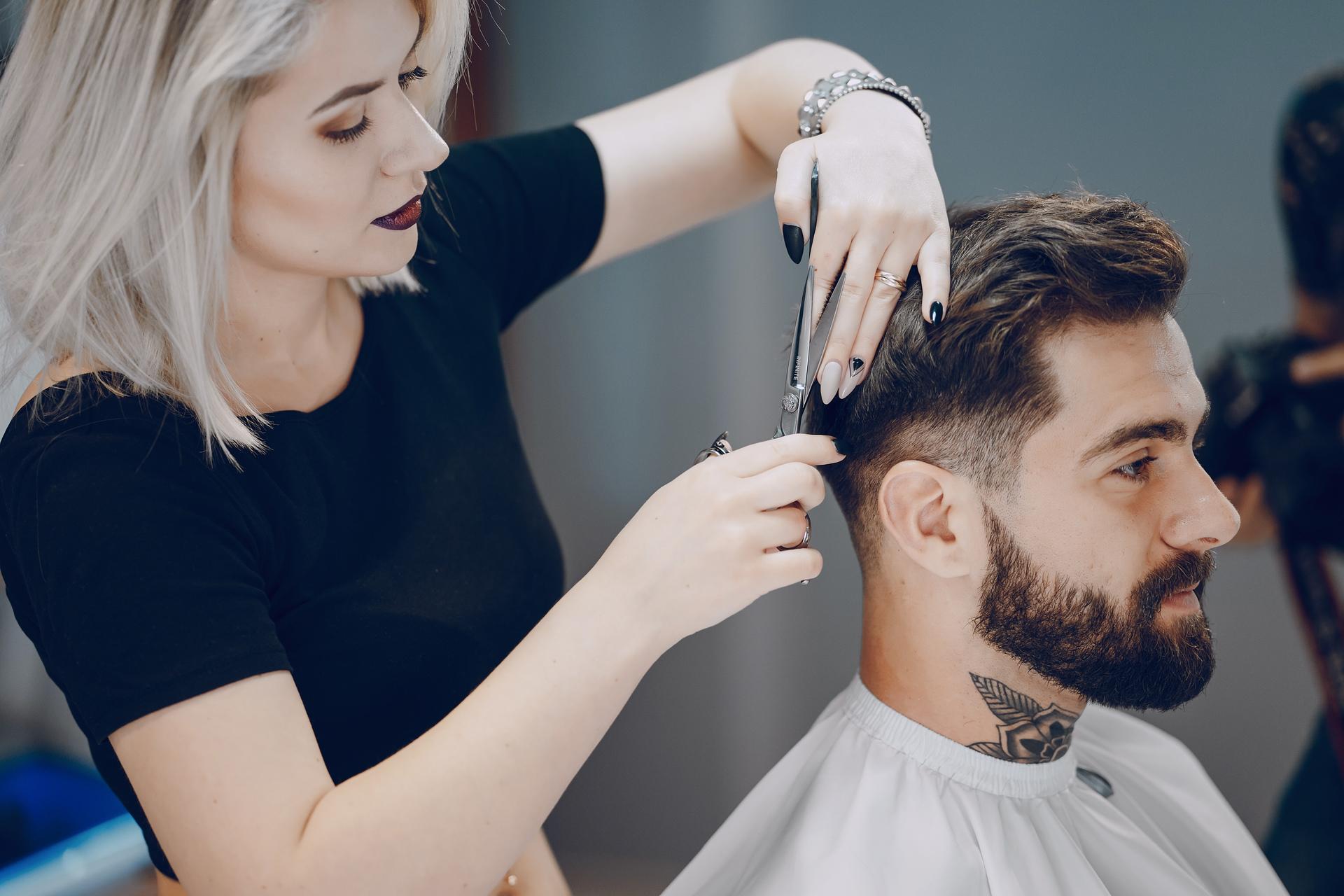 парикмахерская картинки мужчине около ста видов